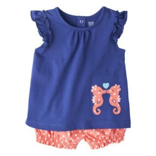 Just One YouMade by Carters Toddler Girls 2 Piece Set   Navy/Orange 4T