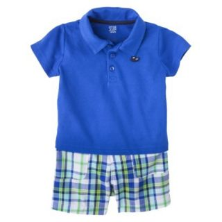 Just One YouMade by Carters Newborn Boys 2 Piece Short Set   Blue 12 M