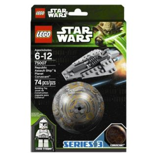 LEGO Star Wars Republic Assault Ship and Planet Coruscant 75007