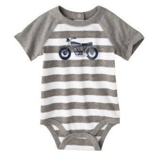 Circo Newborn Boys Motorcycle Bodysuit   Grey Stripe 3 6 M