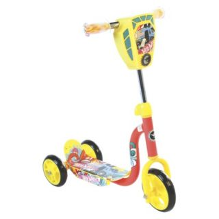 Hot Wheels 3 Wheel Kick Scooter with Lights and Sounds   Yellow