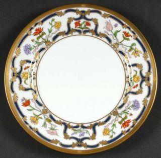 Christian Dior Renaissance Salad Plate, Fine China Dinnerware   Blue&Gold Scroll