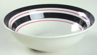 Gibson Designs Basic Living Rainbow Black Soup/Cereal Bowl, Fine China Dinnerwar