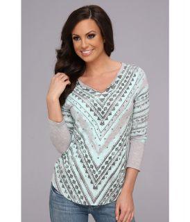 Lucky Brand Geo Batik Tee Womens T Shirt (Multi)