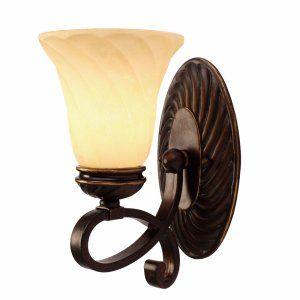 Golden Lighting GOL 8106 BA1 CDB Torbellino 1 Light Wall Sconce