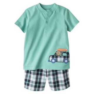 Just One YouMade by Carters Newborn Boys 2 Piece Set   Turquoise/Dark Grey NB