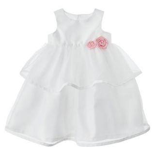 Just One YouMade by Carters Newborn Girls Dress Set   White 6 M