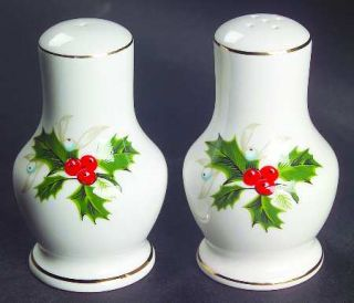 Royal Grafton Noel Salt & Pepper Set, Fine China Dinnerware   Holly & Berries,Ho