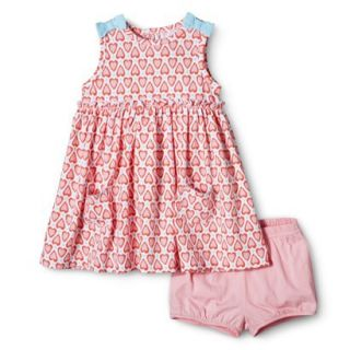 Just One YouMade by Carters Newborn Girls Dress   Pink/Turquoise 12 M