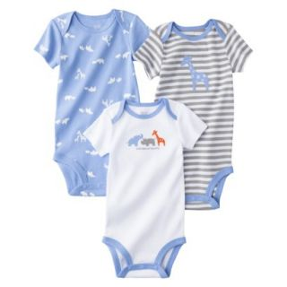 Just One YouMade by Carters Newborn Boys 3 Pack Bodysuit   Blue 24 M
