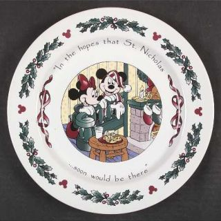 Disney Twas The Night Before Christmas Dinner Plate, Fine China Dinnerware   Mic