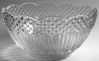 Gorham EmilyS Attic Clear Round Bowl   Clear, Textured/Hobnail Design