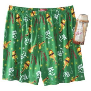 Mens Christmas Story Boxers with Free Gift Tin   Green XL