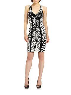 Animal Patterned Dress   Black Ivory