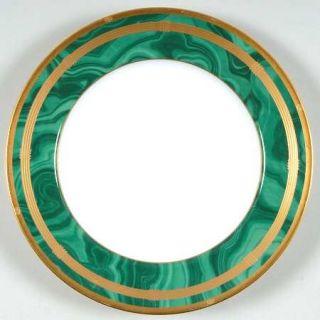 Christian Dior Gaudron Malachite Green Salad Plate, Fine China Dinnerware   Gree