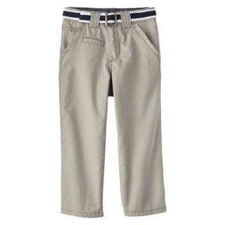 Genuine Kids from OshKosh Infant Toddler Boys Belted Chino Pant   Sleek Gray 2T