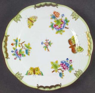 Herend Queen Victoria (Green Border) Bread & Butter Plate, Fine China Dinnerware