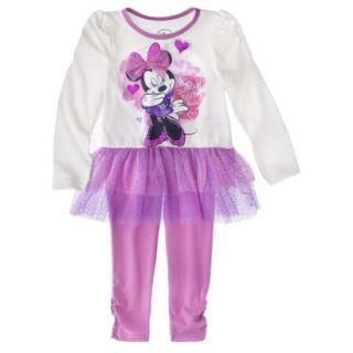 Disney Infant Toddler Girls 2 Piece Minnie Set   Pink 4T