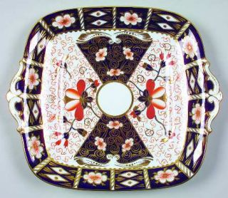 Royal Crown Derby Traditional Imari Square Handled Cake Plate, Fine China Dinner