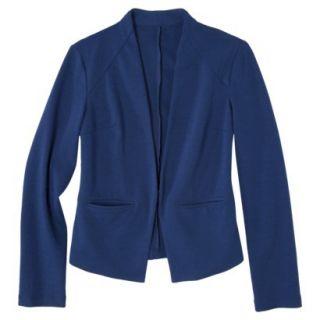 Merona Womens Ponte Collarless Jacket   Waterloo Blue   M