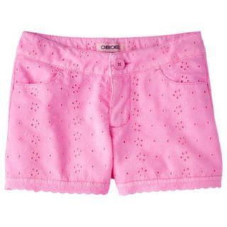 Cherokee Girls Eyelet Short   Dazzle Pink M