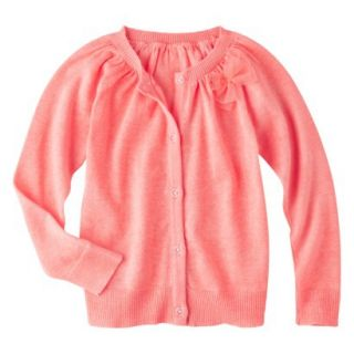 Cherokee Infant Toddler Girls Cardigan   Peach 5T