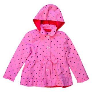 Pink Platinum Toddler Girls Heart Trench Coat   Pink 4T