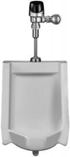 Sloan WEUS1002.1401 Urinal w/ OPTIMA Plus Systems Sensor Activated HEU Flush Valve, 0.25 GPF