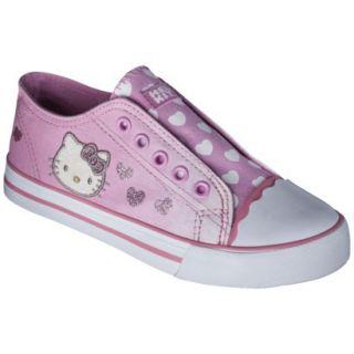 Girls Hello Kitty Canvas Sneaker   Pink 2