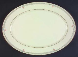 Lenox China Gramercy 16 Oval Serving Platter, Fine China Dinnerware   Metropoli