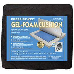 Hudson Pressure Eez Gel/ Foam Wheelchair Seat Cushion 20x16x2