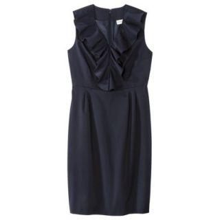 Merona Petites Sleeveless Sheath Dress   Blue 8P