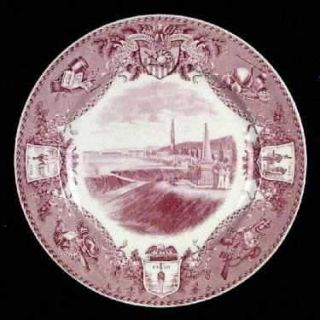 Wedgwood United States Military Academy Red Dinner Plate, Fine China Dinnerware