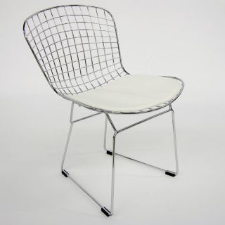 Aeon Furniture Wendy Side Chairs   Set of 4   White   DC 232 WHITE PAD
