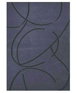 Hand tufted Archie Blue Wool Rug (8 X 106) (bluePattern StripeMeasures 1 inch thickTip We recommend the use of a non skid pad to keep the rug in place on smooth surfaces.All rug sizes are approximate. Due to the difference of monitor colors, some rug co