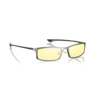 Gunnar Optiks Phenom Graphite Computer Glasses (GraphiteStyle ModernModel ST002 C01203 Frame Aluminum magnesiumLens Amber, anti glare lensDimensions Lens 2.2 inches wide, bridge 18 mm across, arms 5.2 inches longLightweight construction and proper we