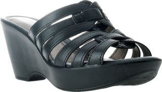 Womens Spring Step Attraction   Black Leather Casual Shoes