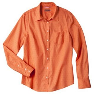 Merona Womens Favorite Solid Shirt   Mandarin   XS