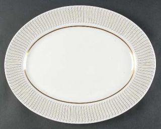 Royal Albert Capri 15 Oval Serving Platter, Fine China Dinnerware   Yellow Line