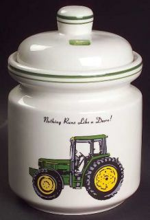 Gibson Designs John Deere (Tractor) Medium Canister, Fine China Dinnerware   Gre