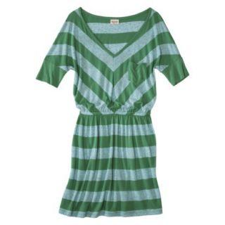 Mossimo Supply Co. Juniors V Neck Dress   Trinidad Green L(11 13)