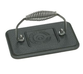 Lodge Rectangular Cast Iron Grill Press w/ Cool Grip Spiral Handle & Hammered Finish