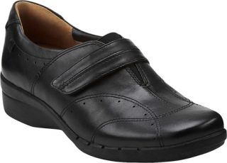Womens Clarks Un.Boost   Black Leather Casual Shoes