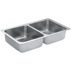 Moen G18210 1800 Series Stainless steel 18 gauge double bowl sink
