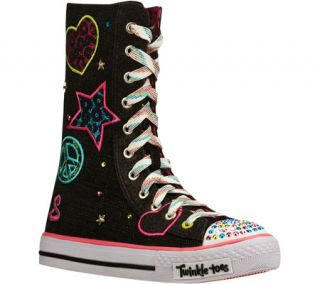 Infant/Toddler Girls Skechers Twinkle Toes Shuffles Megastar   Black/Multi Snea