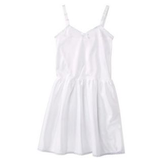 Girls Nylon Full Slip   White 12