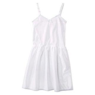 Girls Nylon Full Slip   White 12