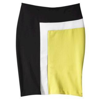 Merona Womens Colorblock Ponte Skirt   12