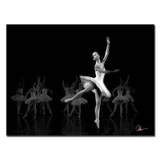 Trademark Global Inc Dancers III Canvas Art by Mha Guerra   Black/White   MG071