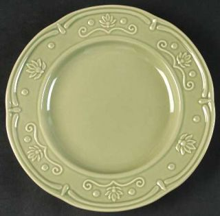 Jaclyn Smith Scalloped Floral Green Salad Plate, Fine China Dinnerware   Traditi